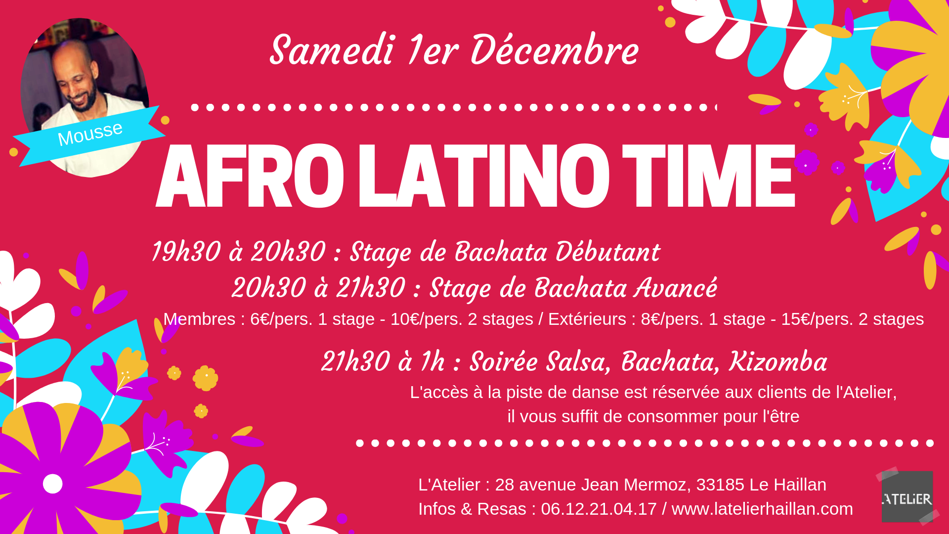 Afro Latino Time avec Mousse - 2 stages de Bachata