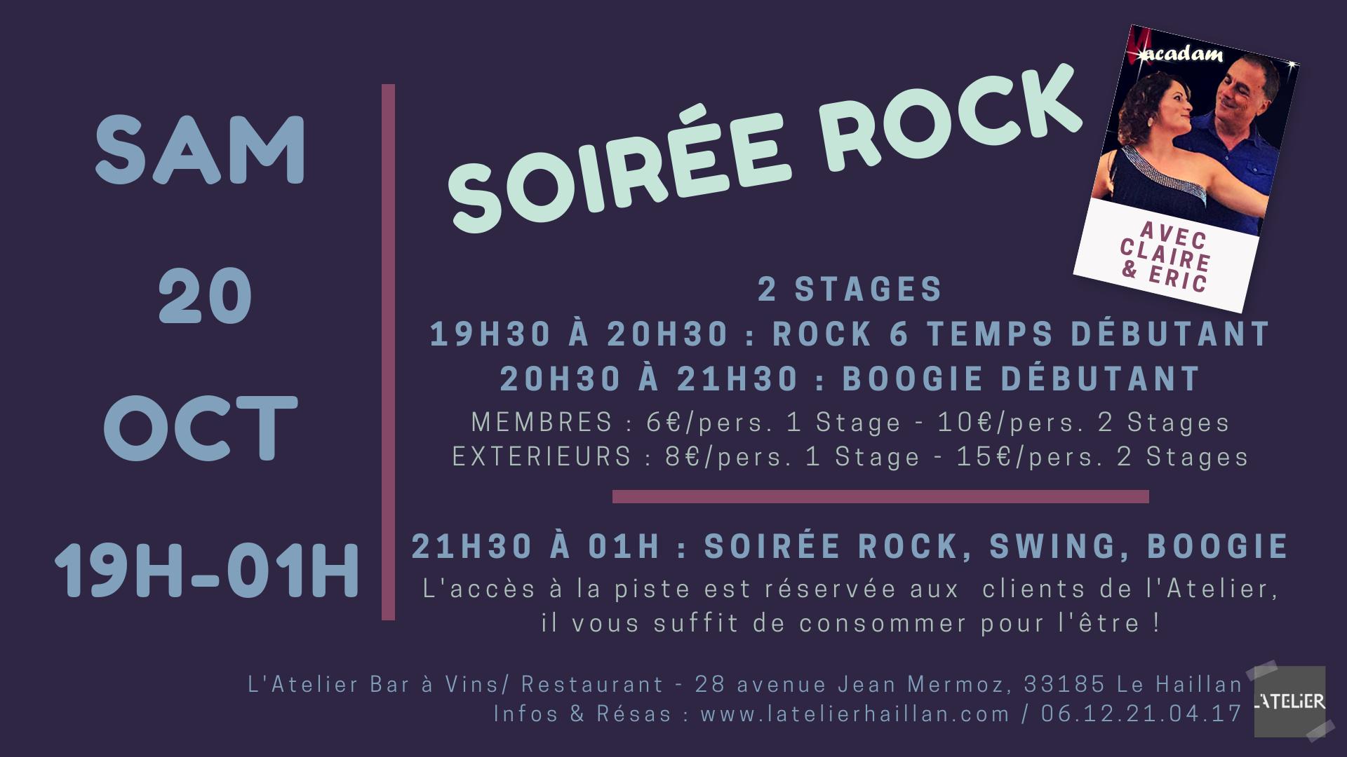 Soirée Rock avec Claire & Eric - 2 Stages Débutants