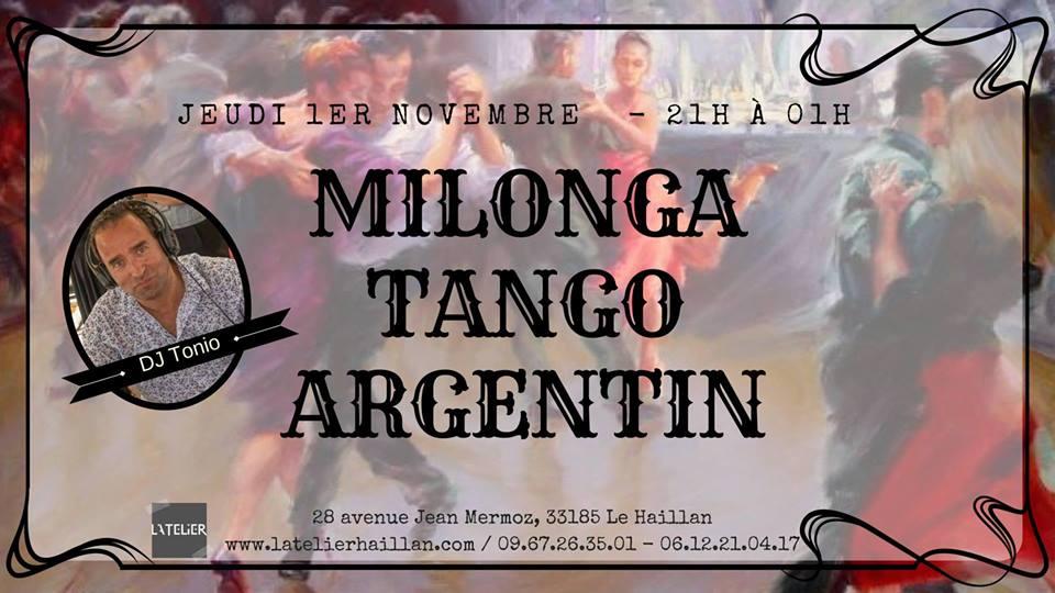 Soirée Milonga avec DJ Tonio - Tous les 1er Jeudis du Mois !