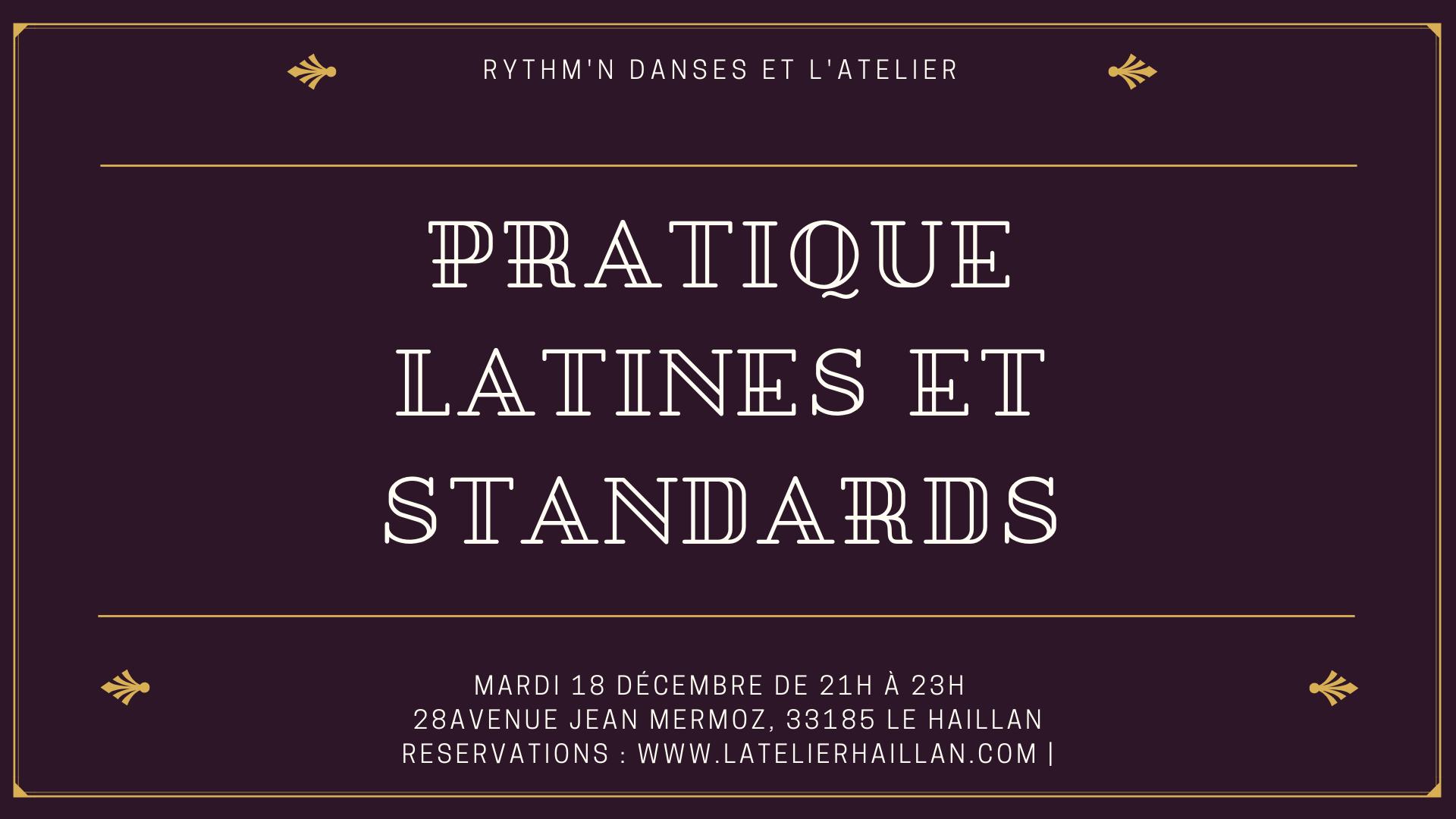 Pratique Latines et Standards avec Anna et igor