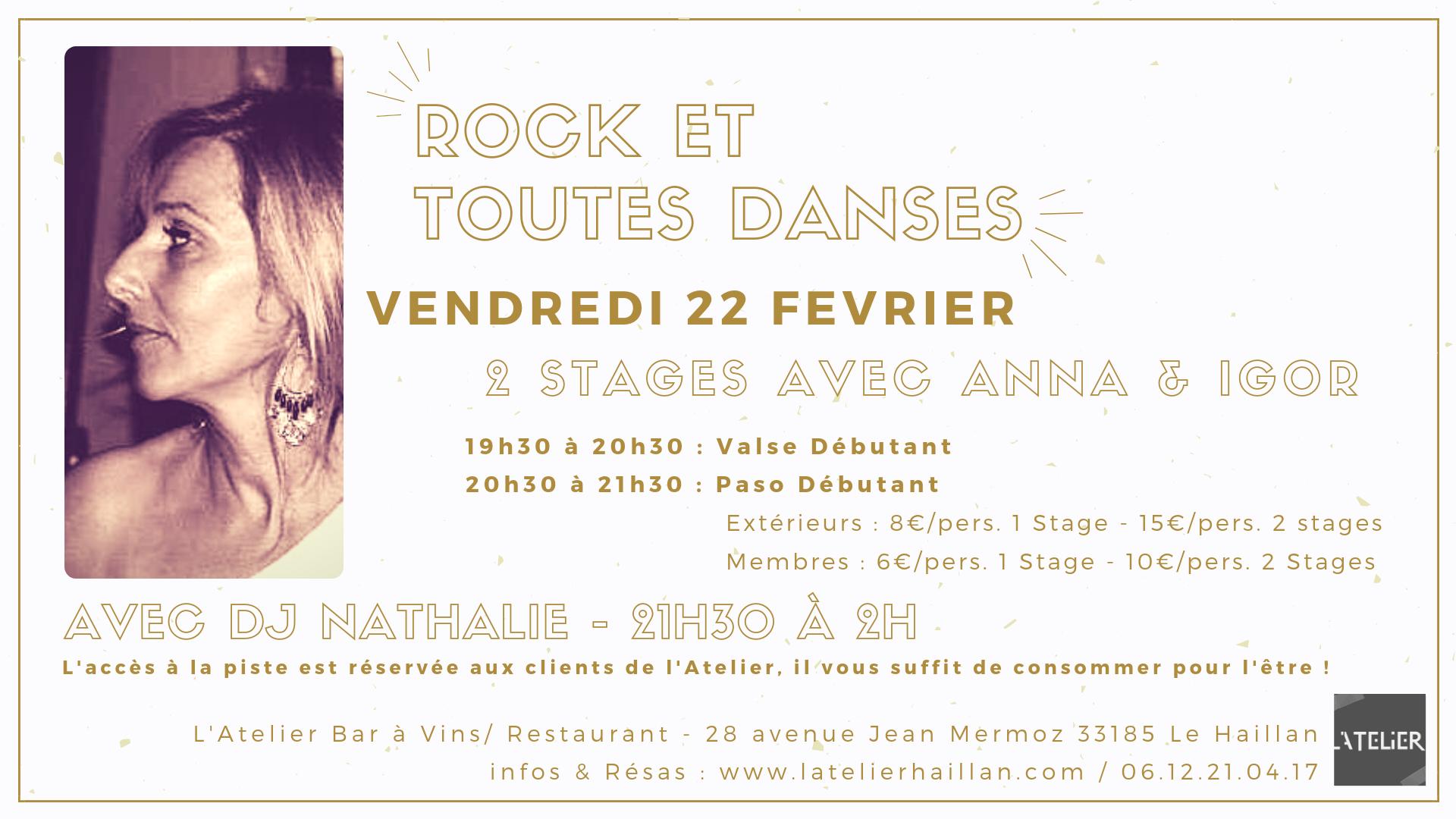 Soirée Rock & Toutes Danses - 2 stages