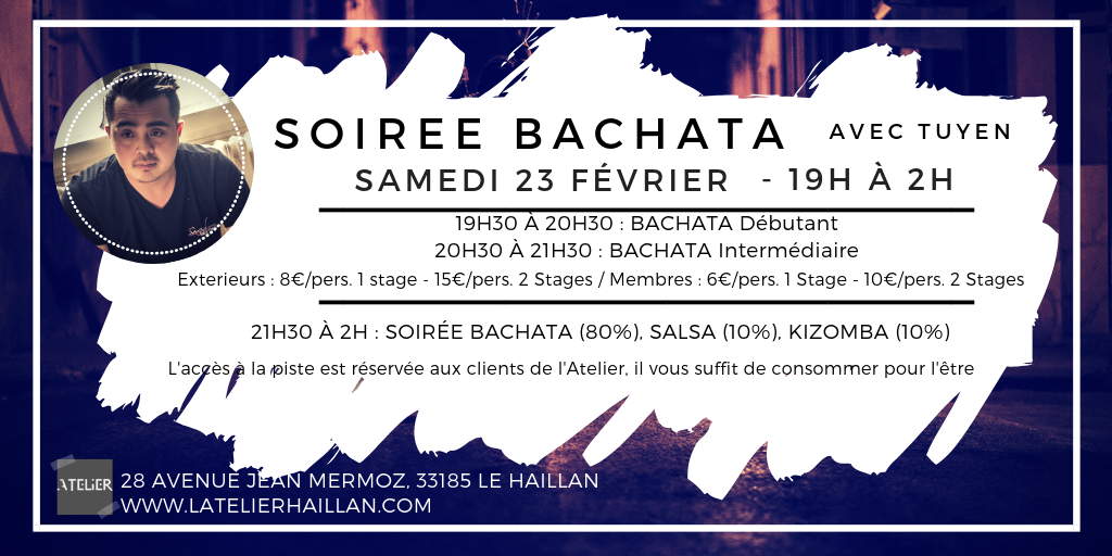 Soirée Bachata avec Tuyen - 2 Stages de Bachata