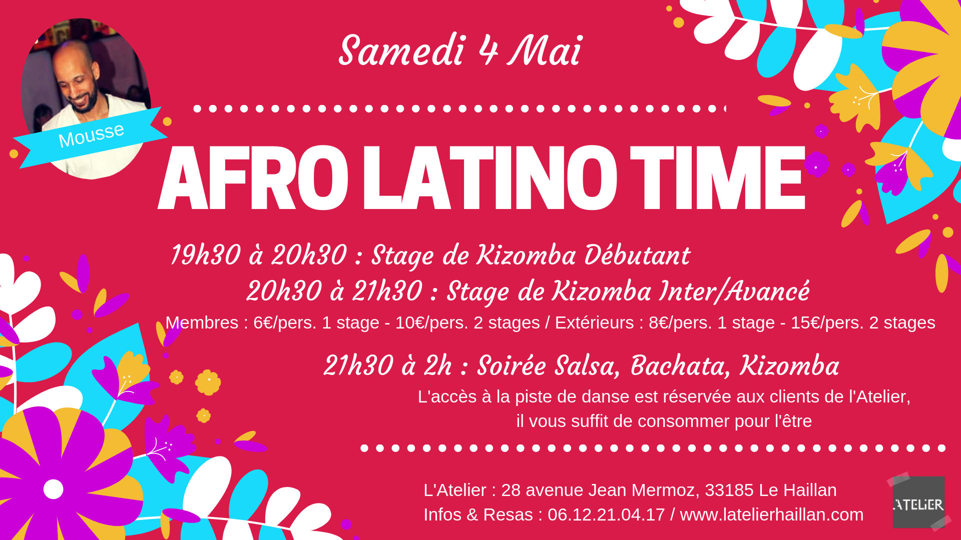 Afro Latino Time avec Mousse - 2 stages de Kizomba
