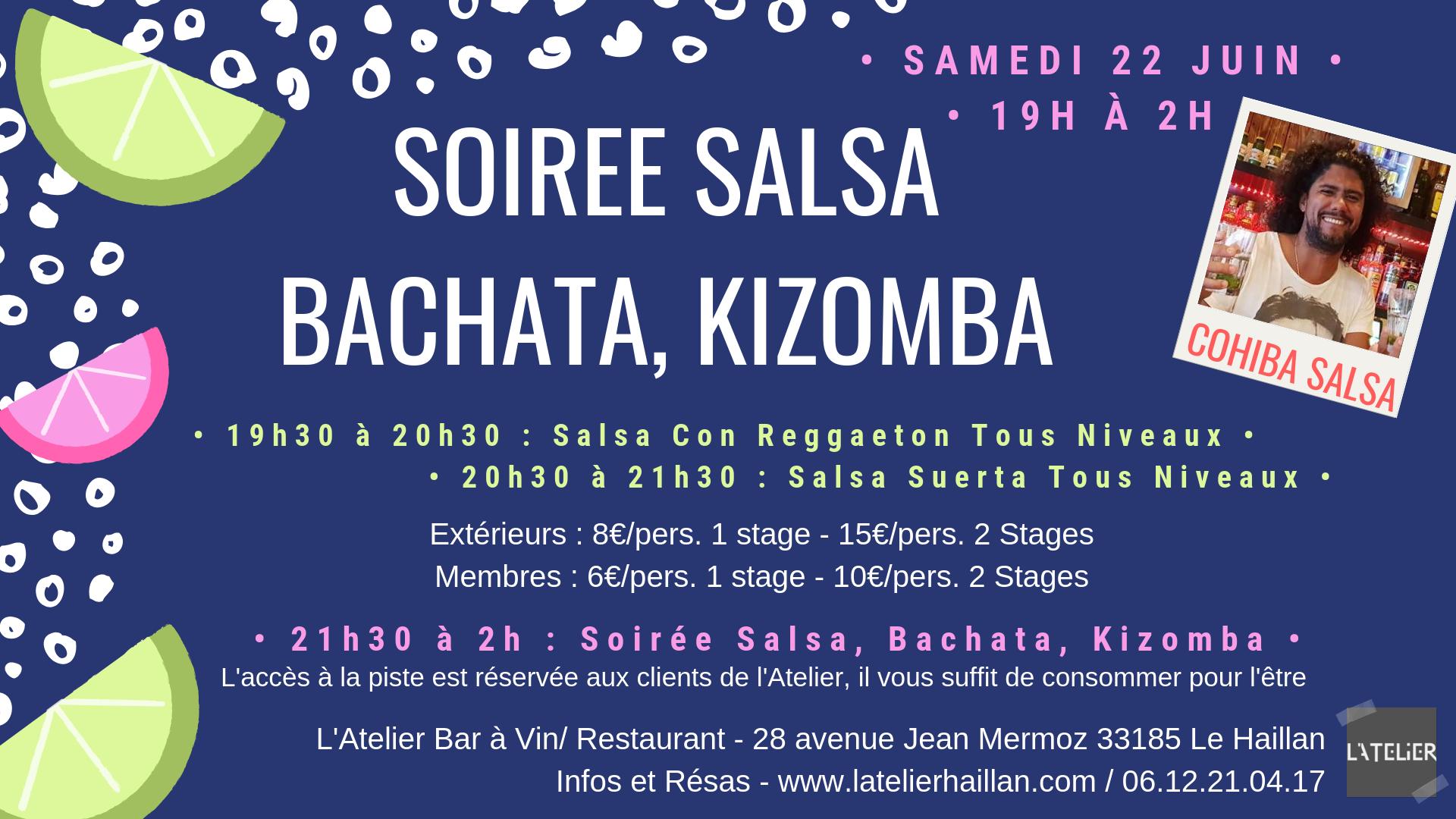 Soirée Salsa, Bachata, Kizomba avec Cohiba Salsa