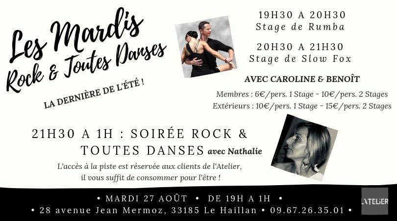Les Mardis Rock & Toutes Danses avec Nathalie - Stage de Rumba & Slow Fox