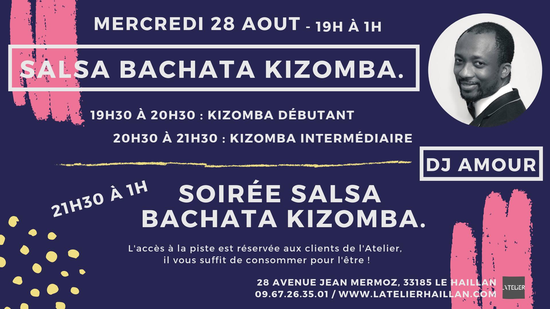 Soirée Salsa, Bachata, Kizomba avec Amour - 2 stages de Kizomba