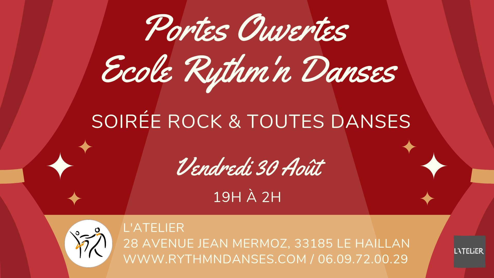 Portes Ouvertes Ecole Rythm'n Danses - Soirée Rock & Toutes Danses