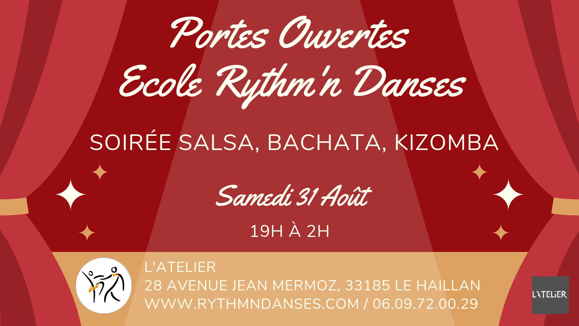 Portes Ouvertes Ecole Rythm'n Danses - Soirée Salsa, Bachata, Kizomba