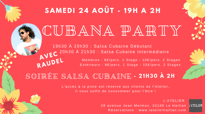 Cubana Party avec Cohiba Salsa - 2 Stages de Salsa Cubaine