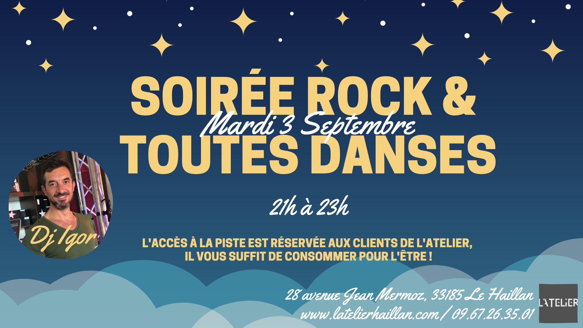 Les Mardis Rock & Toutes Danses avec Igor