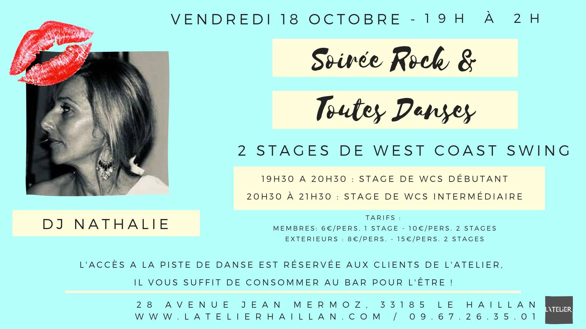 Soirée Rock & Toutes Danses avec Nathalie - Stage de WCS