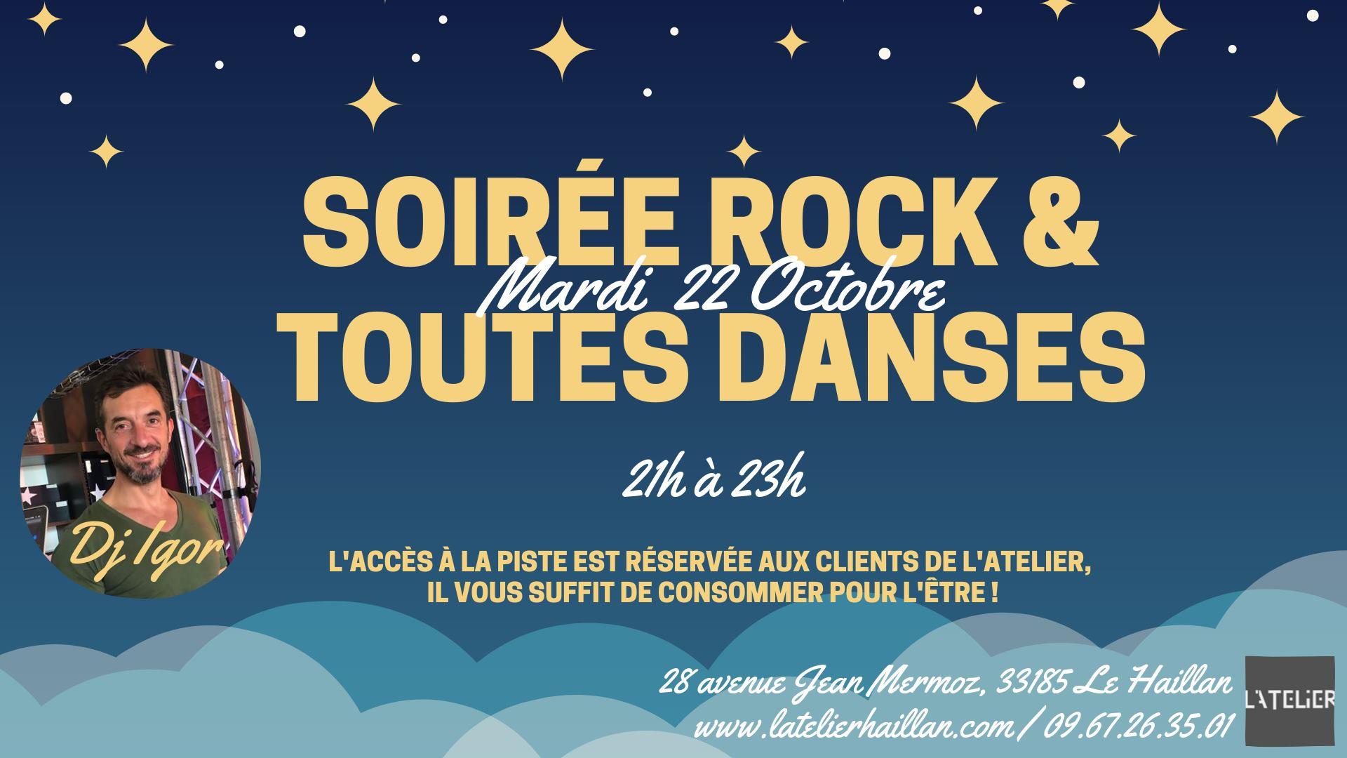 Les Mardis Rock & Toutes Danses avec Dj Igor