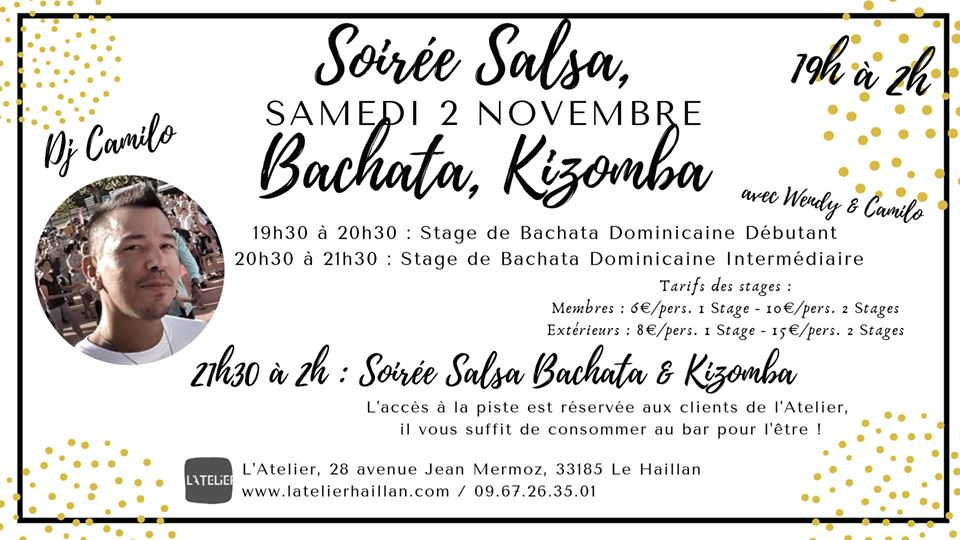 Soirée SBK avec Camilo - Stages de Bachata Dominicaine