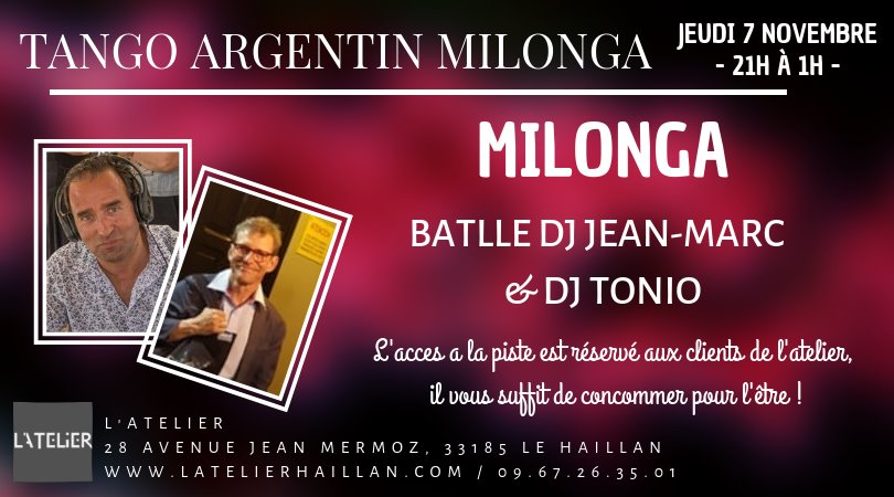 Les Jeudis Milonga - Battle DJ Jean-Marc VS DJ Tonio