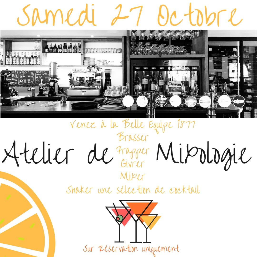 Atelier de mixologie - Samedi 27 Octobre à 20H