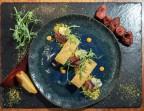 Photo Royal de foie gras* de Thierry Paris, figues rôties, poudre d'herbes - Bistrot Auvergnat
