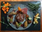 Photo Filet de bœuf, pommes de terre grenaille, jus réduit maison - Bistrot Auvergnat