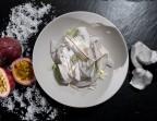 Photo Crémeux noix de coco*, gelée fruit de la passion - Bistrot Auvergnat