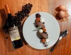 Photo Crème namelaka de chocolat noir, meringue* à la Chatreuse, kumquat confit - Bistrot Auvergnat