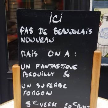Une autre façon de célébrer le Beaujolais