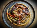 Photo Poulpe, Beurre d'Ail, Chorizo Ibéric, Caviar d'Aubergines  - LES MOULINS DE SAINT AYGULF