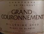 Photo Cuvée de Prestige, Grand Couronnement, Millésime 2002 - Saveurs Salines