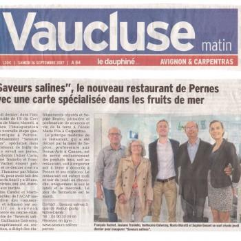 """""""Saveurs Salines"""", le nouveau restaurant de Pernes avec une carte spécialisée dans les fruits de mer"""
