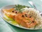 Photo Pavé de saumon, tian de légumes sur riz basmati - LES SAVEURS SALINES