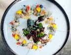 Photo Carpaccio de Noix de Saint-Jacques et crevette bleue