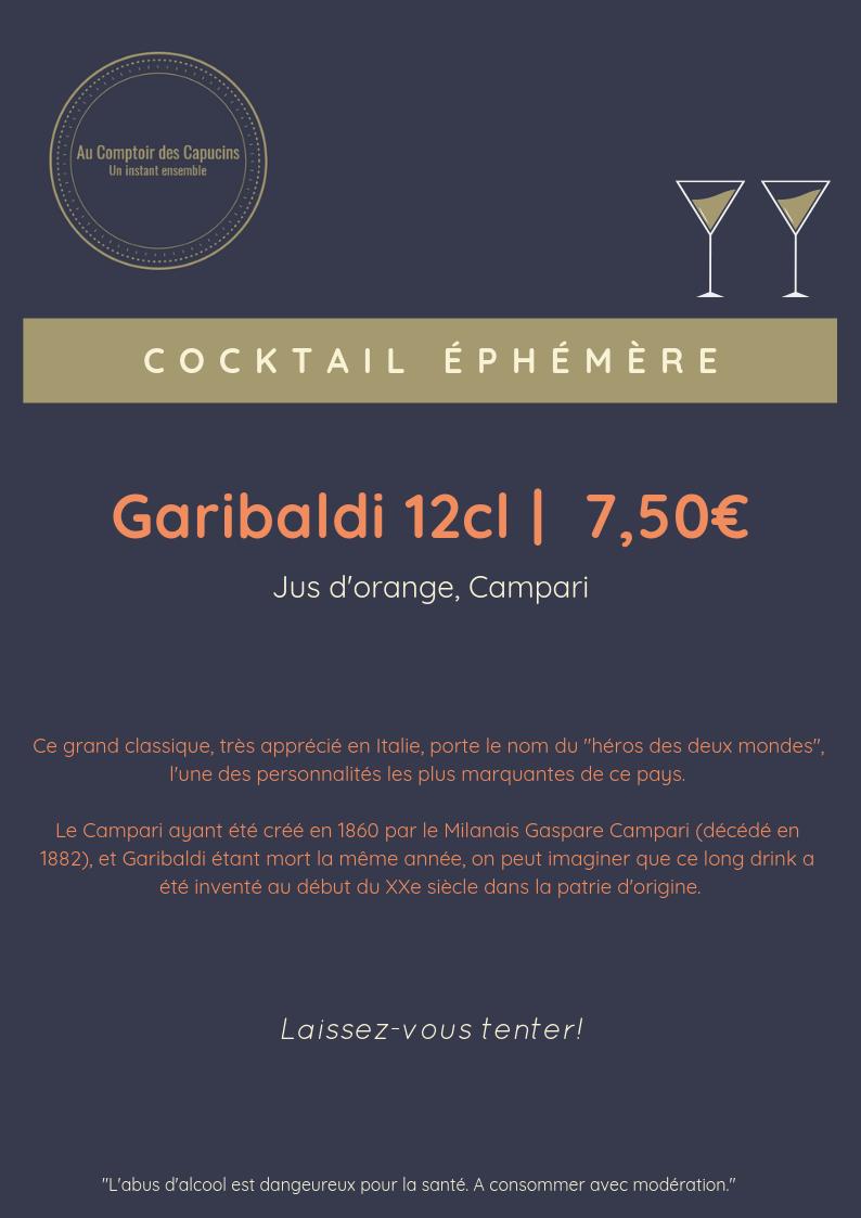 Notre Cocktail Ephémère de la semaine : le