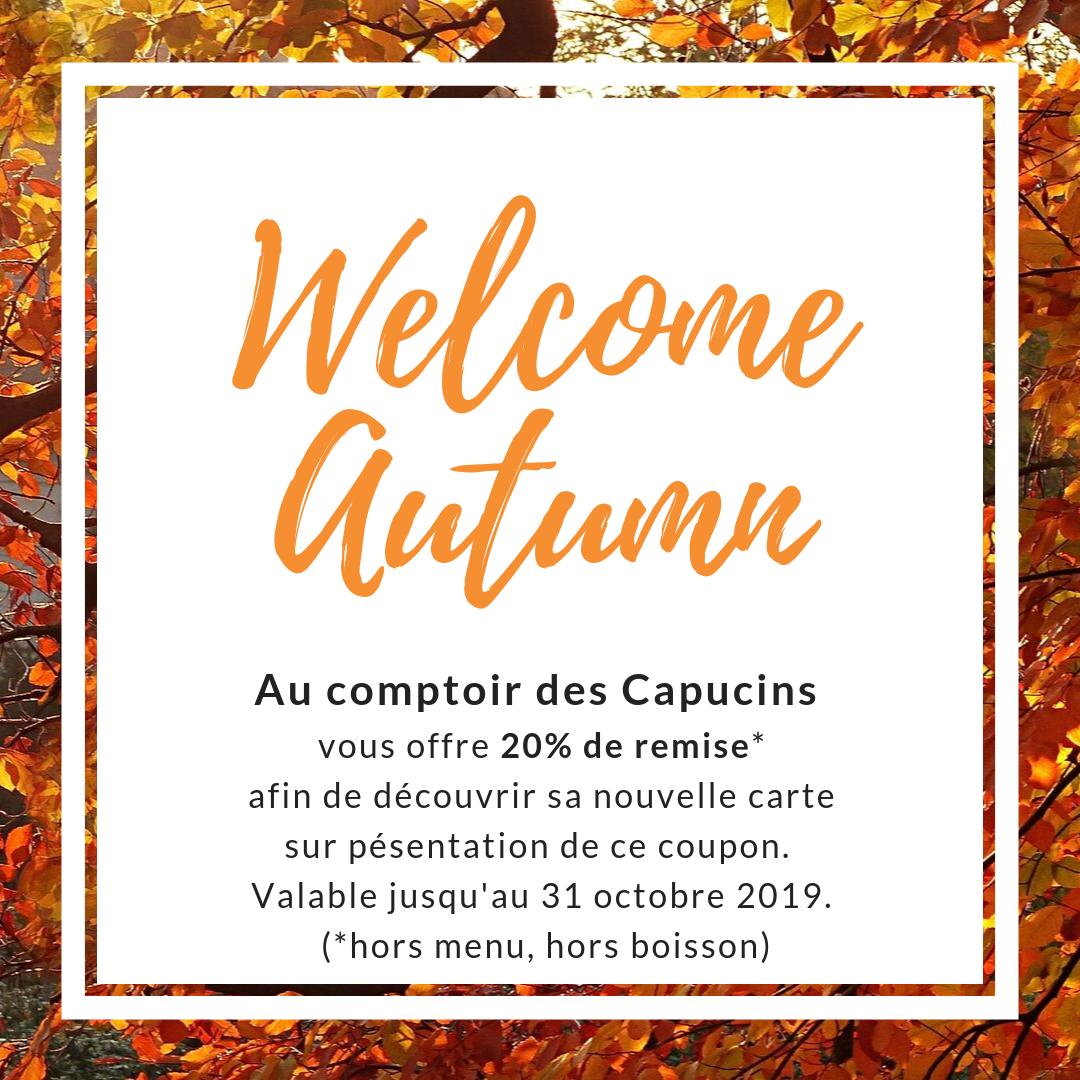 La carte d'automne est arrivée.