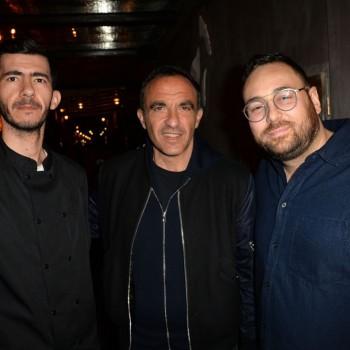Purepeople :  Nikos Aliagas et Flora Coquerel : Inauguration gourmande en plein coeur de Paris