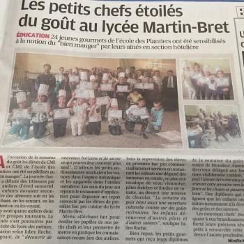 Les petits chefs étoilés du goût au lycée Louis Martin Bret