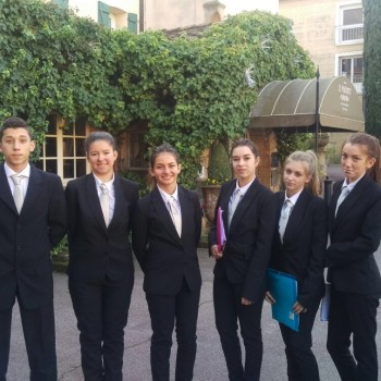 Les élèves de Martin Bret en visite à l'hôtel Le Pigonnet