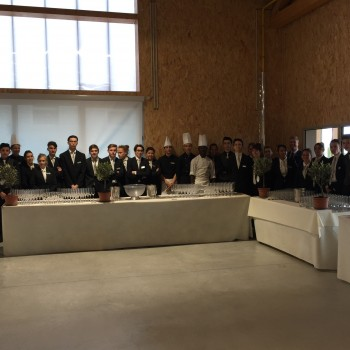 Le lycée Louis Martin Bret assure le service lors de la cérémonie d'inauguration de l'Eco Campus de St Tulle