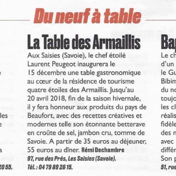 Du neuf à table / Carnet gourmand / Le guide week-end / Le Parisien