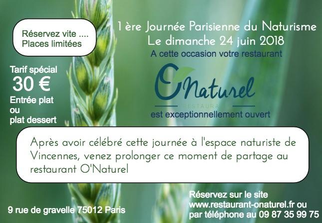 1 ère Journée Parisienne du Naturisme