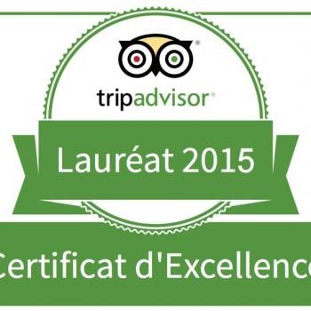 Distinction du Bouchon des Chartrons par Tripadvisor
