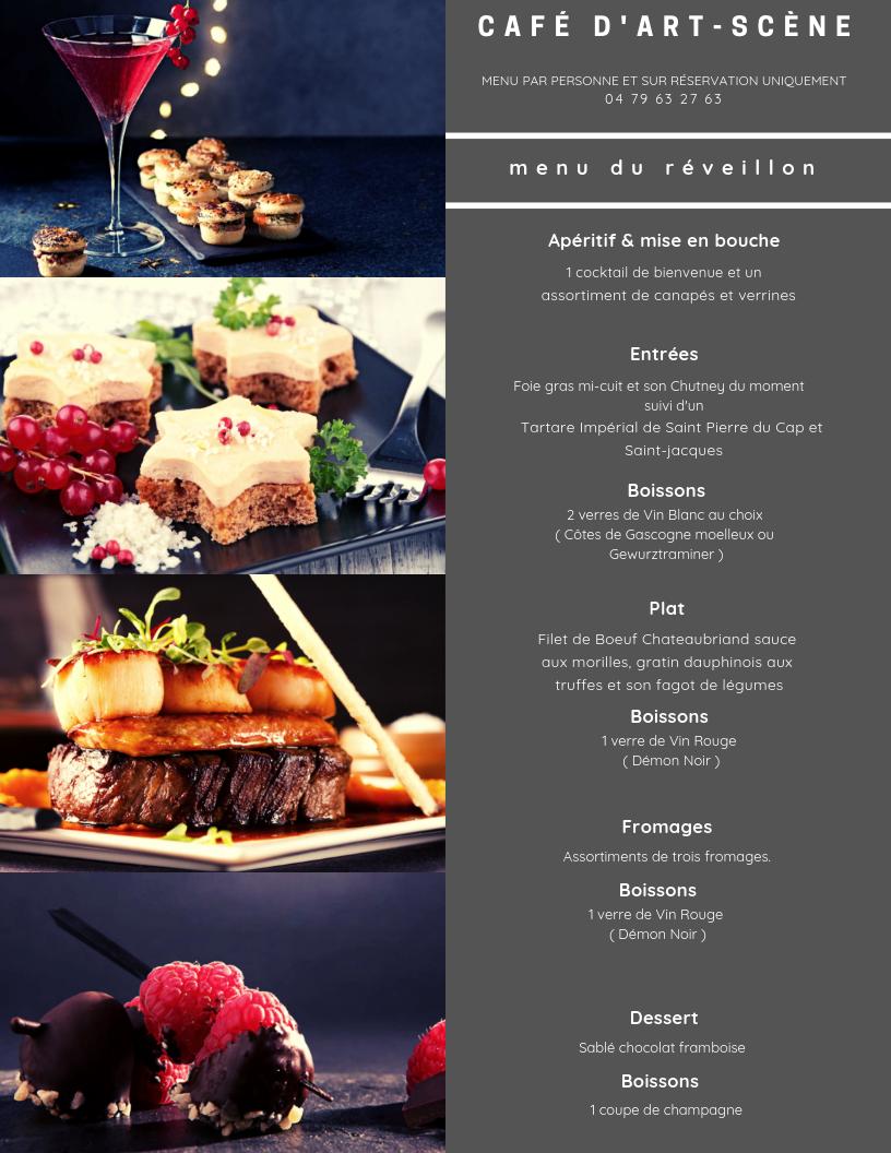 Diner et soirée du Réveillon 2019