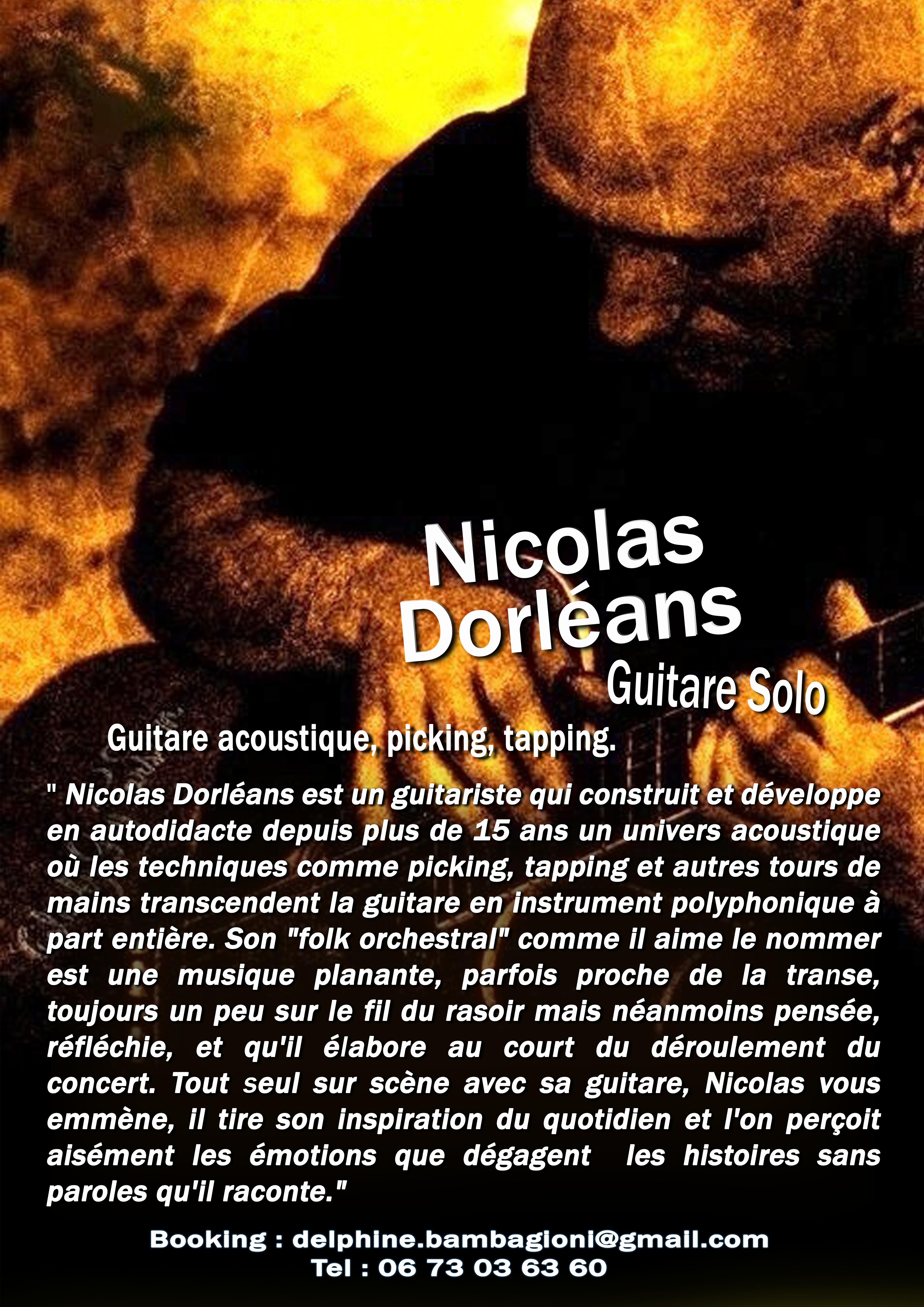 Diner concert avec Nico d'Orléans