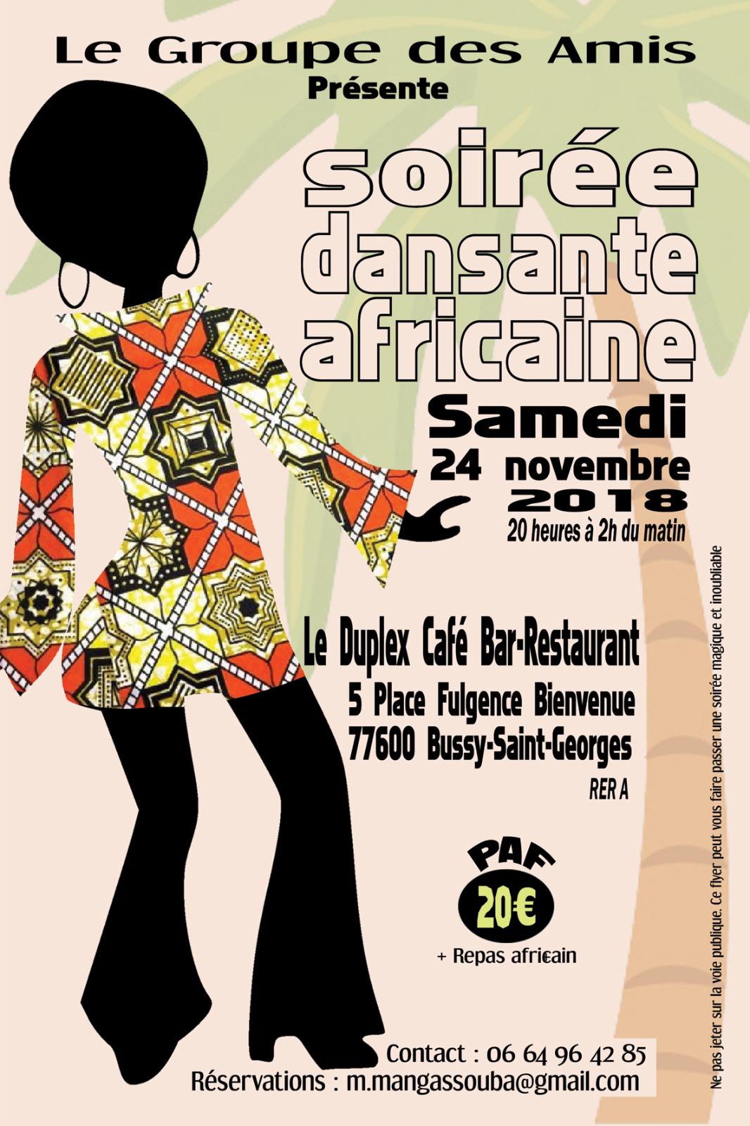 Soirée Africaine Samedi 24 novembre 2018