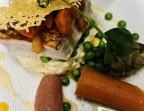 Photo Pavé d'espadon grillé, risotto aux maïs et piperade de poivrons rouges. - Le stras'