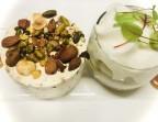 Photo Nougat glacé, compote de pomme, espuma à la fleur d'oranger et caramel au beurre salé. - Le stras'