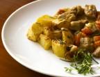 Photo Emincé de veau avec pommes de terre rôties - LE CENT HUIT