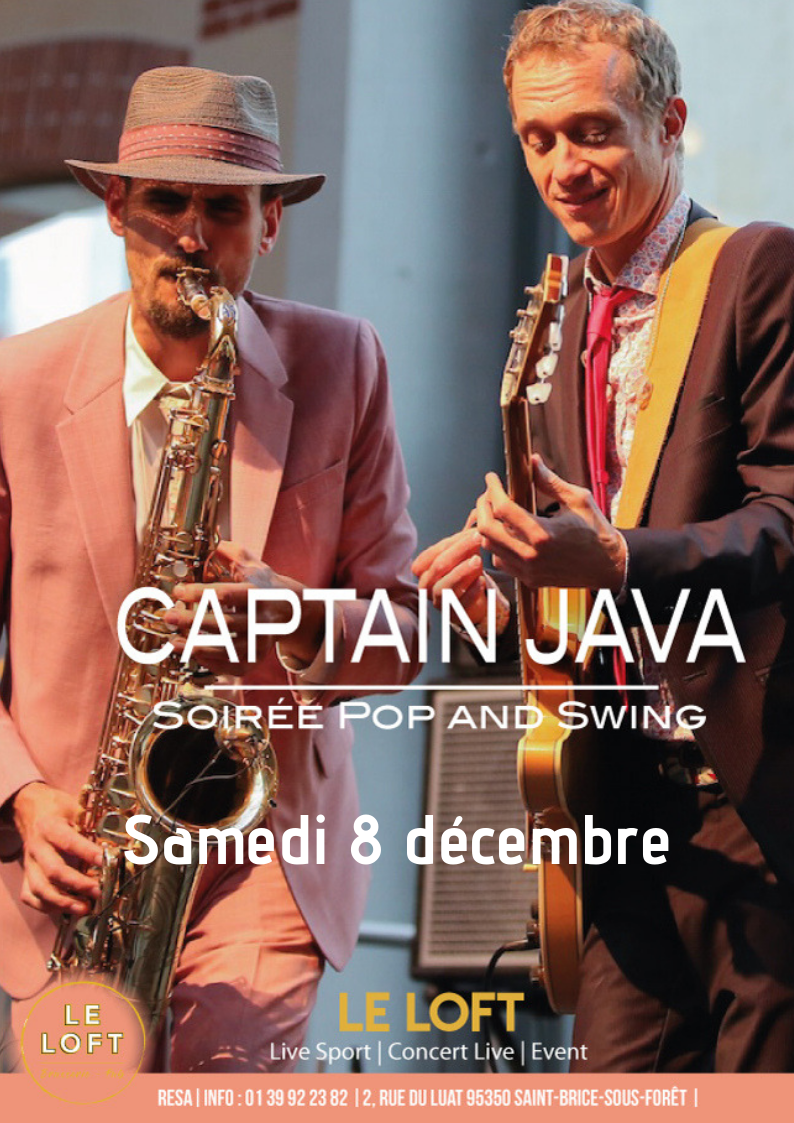 Concert - Pop and Swing - Capitaine Java