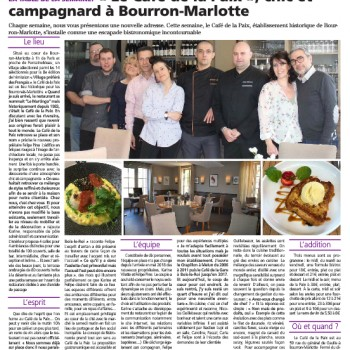 Le Restaurant Café de la Paix mis à l'honneur dans la Rép'Styles.