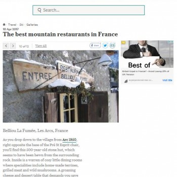 The Best Moutain restaurants In France