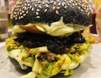 Photo Charcoal Veggie burger  - Health Inside