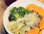 Photo Quinoa bowl brocolis, curcuma, amandes, avocat - Health Inside