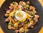 Photo Oeuf mollet, crémeux de patate douce, champignons  et châtaignes - Health Inside